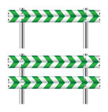 Green and white construction barricade Royalty Free Stock Image
