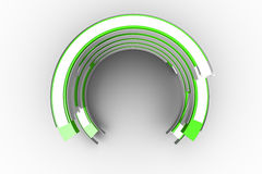 Green and white curved structure Stock Photography