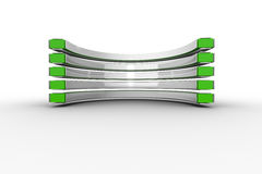 Green and white curved structure Stock Photo