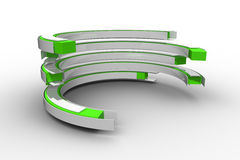 Green and white curved structure Royalty Free Stock Photo