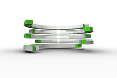 Green and white curved structure Stock Image
