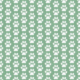 Green and White Dog Paw Prints Tile Pattern Repeat Background Royalty Free Stock Image