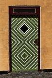 Green and White Door Stock Photo