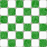 Green white floor marble square tiles seamless Stock Images