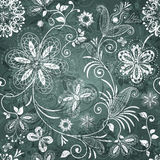 Green-white floral pattern Stock Photos