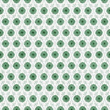 Green and White Flower Repeat Pattern Background. That is seamless and repeats Stock Photography