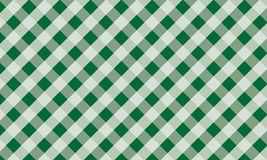 Green and white gingham background texture.Vector illustrat. Firebrick Gingham green and white pattern. Texture from rhombus/squares for - plaid, tablecloths stock illustration