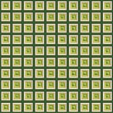 Green White Gold Squares Stock Image