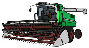 Green and white harvester Royalty Free Stock Photos
