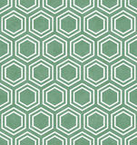 Green and White Hexagon Tile Pattern Repeat Background Stock Photo
