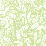 Green and white Leaves Seamless Pattern Background Stock Image