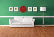 Green and white lounge Royalty Free Stock Photography