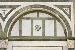 Italian marble church facade Royalty Free Stock Image