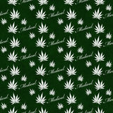 Green and White Medical Marijuana Tile Pattern Repeat Background Royalty Free Stock Images