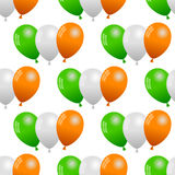 Green White Orange Balloons Seamless Royalty Free Stock Photography