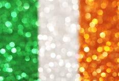 Green, white, orange stripes - elegant abstract background Royalty Free Stock Images