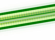 Green and white pixelated effect fractal stripe. Pixelated effect fractal stripe in shades of dark and light green on a white background. Text space. For use e.g Stock Images