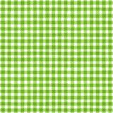 Green and white plaid background. Green and white grunge gingham tartan plaid ripply abstract geometric seamless pattern background. Hand drawn seamless texture Stock Image