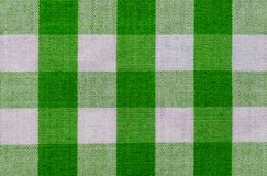 Green and White Plaid Fabric royalty free stock images