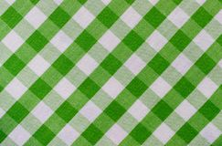 Green and White Plaid Fabric royalty free stock photography