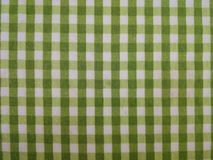Green and white plaid pattern. Cotton cloth with green and white plaid pattern Royalty Free Stock Images