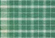 Green white plaid table cloth background wallpaper Royalty Free Stock Photos