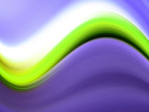 Green and white on purple background Stock Image