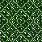 Green and White Question Mark Symbol Pattern Repeat Background Royalty Free Stock Photo