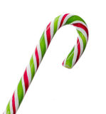 Green, white and red candy Christmas stick, lollipop Stock Images