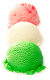 Green, white, and red ice cream ball Stock Photography