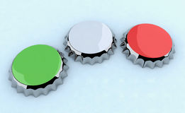 Green/white/red (italian flag) metal cap Stock Photography