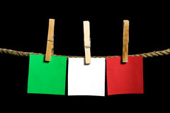 Green, white and red postit Royalty Free Stock Image