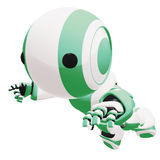 Green and white robot Stock Photo