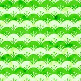Green and white scales watercolor background. Seamless pattern good for web pages or as wallpaper stock illustration