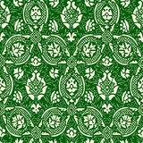 Green and white Seamless abstract floral pattern vintage background Royalty Free Stock Image
