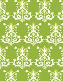 Green and white Seamless pattern. Classic oriental background Stock Image