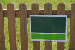 Green White Sign Picket Fence Stock Photos