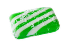 Green and white soap bubble Royalty Free Stock Photography