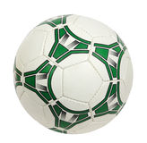 Green and white soccer ball. (isolated) Royalty Free Stock Images