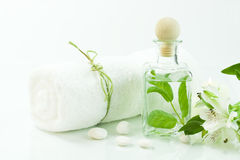 Green and white (SPA concept) Royalty Free Stock Images