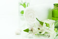 Green and white (SPA concept) Royalty Free Stock Image