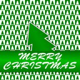 Green and white squares with Christmas trees - Chr Stock Photos