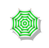 Green and white striped beach umbrella Royalty Free Stock Image