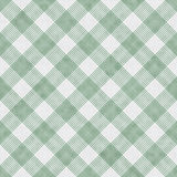 Green and White Striped Gingham Tile Pattern Repeat Background Royalty Free Stock Images
