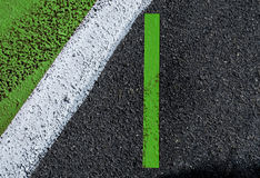 Green white stripes marking textured background sign and trace of Royalty Free Stock Photos