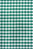 Green and white tablecloth Royalty Free Stock Photo