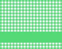 Green white tablecloth with stripe for text. Traditional rustic green white tablecloth texture with stripe for text royalty free illustration
