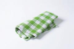 Green and white tea towel Royalty Free Stock Photo