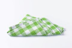 Green and white tea towel Royalty Free Stock Image