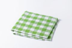 Green and white tea towel Royalty Free Stock Images